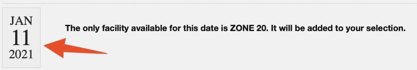 Confirm Date and Zone