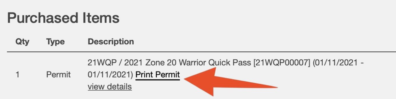Print Permit