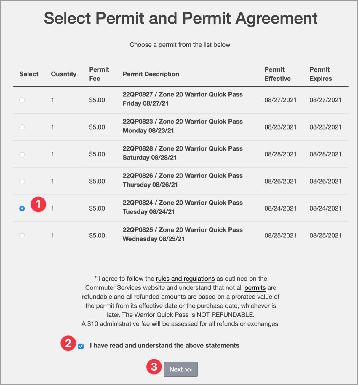 Select Permit